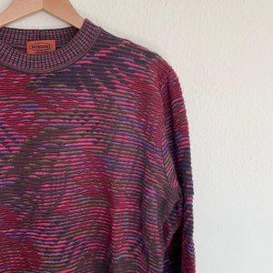 Missoni Wool Leaf Motif Knit Sweater